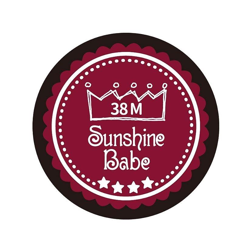 切手レイプドックSunshine Babe カラージェル 38M レッドペア 4g UV/LED対応