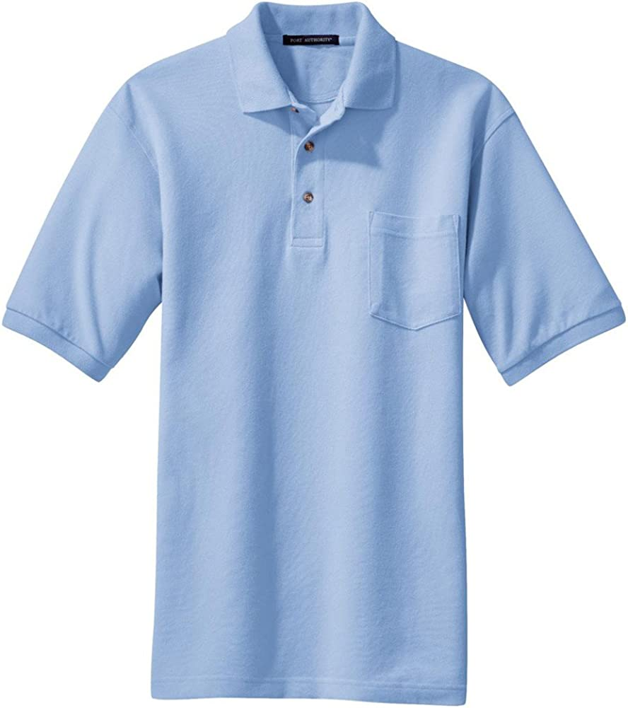 Port Trust Authority Heavyweight Cotton Choice Pique K420P Pocket. Polo with