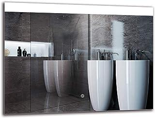 Espejo LED Deluxe - Dimensiones del Espejo 80x60 cm - Interruptor tactil - Espejo de baño con iluminación LED - Espejo de Pared - Espejo con iluminación - ARTTOR M1ZD-25-80x60 - Blanco frío 6500K