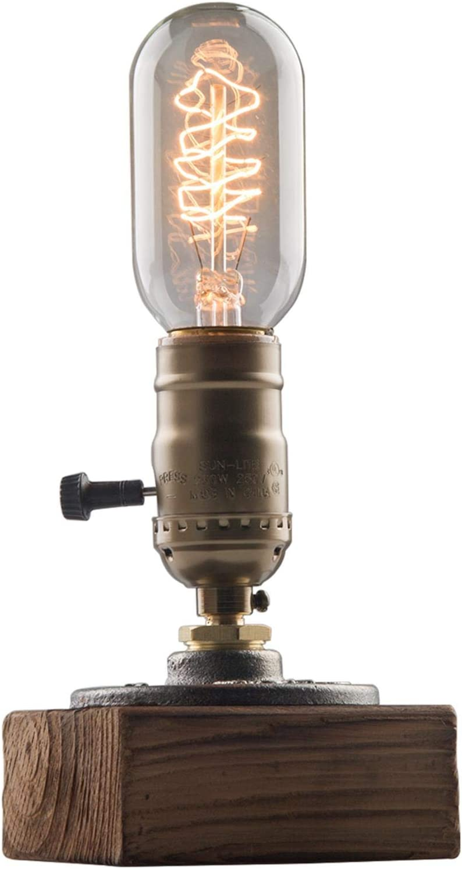 OYGROUP Table Super intense SALE Lamp-Vintage Desk Lamp-E26 Retro Wooden Indust 60W outlet