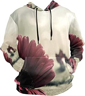SLHFPX 3D Hoodie Flora Pullover Hooded Sweatshirts Long Sleeve Shirt