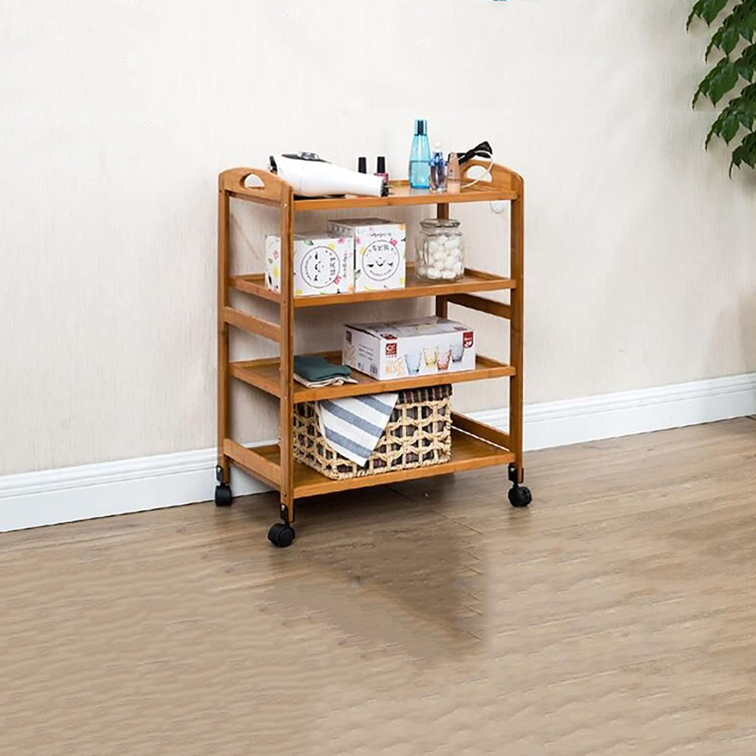Kitchen Shelf All Purpose Shelving, Tier Serving Trolley,Wood Storage Units Kitchen Storage Racks (color   B)