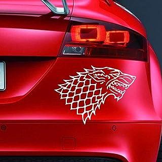 Vinyl Aufkleber, Motiv: House of Stark Game of Thrones, lustiger Aufkleber für Auto, Fenster, Stoßstange, Motorsport, JDM Euro, Wohnwagen, Cartoon, Fahrrad, Roller.
