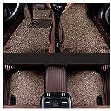 Juego de alfombrillas personalizadas para coche alfombras impermeables para pies alfombras para suelo de cuero PU alfombras para coche juego completo para Lincoln Navigator 2006-2015,Marrón