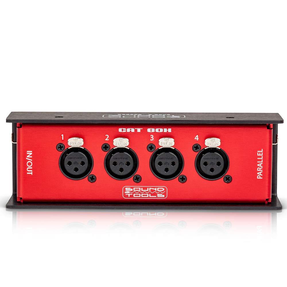CAT Box FX - Caja de escenario hembra XLR con audio sobre cable CAT blindado. Envío de 4 canales de audio, DMX, Clear-Com. o AES.: Amazon.es: Instrumentos musicales