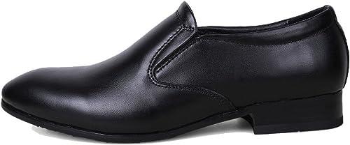 LYZGF Hommes Affaires Non-GlisseHommest Mode Décontractée Jeunes Jeunes Jeunes Chaussures De Mariage en Cuir b98