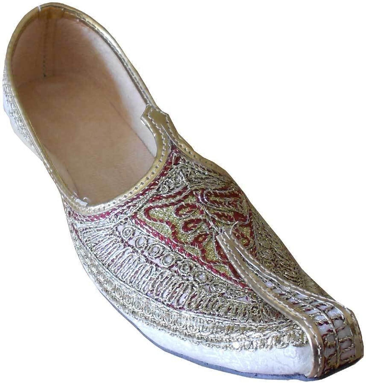 Kalra skapade Mojari Indian Man skor Punjabi Jutti Jutti Jutti Khussa bröllop Flip -Flops Flat  snabb frakt till dig