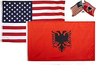 3x5 3'x5' Wholesale Set 2 Pack USA American /& Kosovo Country Flag Banner
