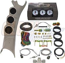 GlowShift Diesel Gauge Package for 2003-2009 Dodge Ram Cummins 2500 3500 - White 7 Color 60 PSI Boost, 2400 F Pyrometer EG...