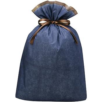 包む ラッピング袋 ビッグギフト 巾着 インディゴブルー T-2719-IB