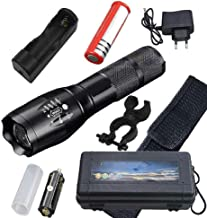 Flashlight Waterproof Most Powerful LED Flashlight High Power 5 Mode L T6 L2 V6 Zoomable Rechargeable Focus Torch 1 * 1865...