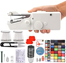 150 Pieces Handheld Sewing Machine and Sewing Kit, CocoX Small Cordless Portable Handy Electric Stitching Machine for Beginner with Sewing Threads, Needles, Threader, Scissor, Safety Pins, Thimbles