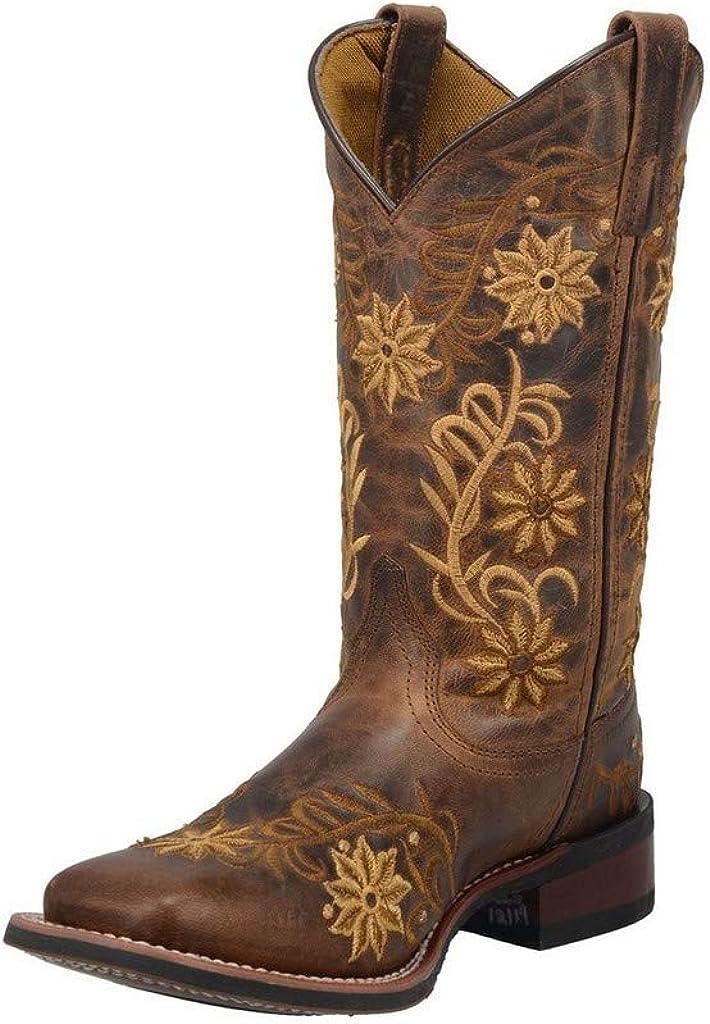 Laredo Women's Secret Garden Western Boot Wide Square Toe