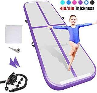 Playieer 9.84ft/13ft/16.4ft/19.69ft/23ft/26ft/29ft/33ft/36ft Air Track Tumbling Mat for Gymnastics Inflatable Airtrack Floor Mats with Electric Air Pump for Home Use