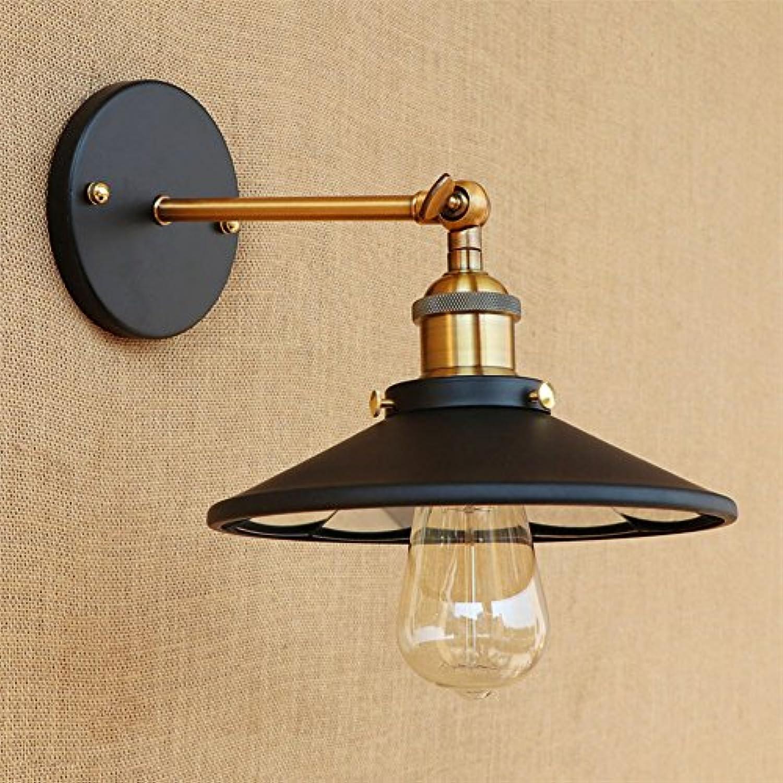 LQFLD Wandleuchte Matt Schwarz Eisen Verstellbarer Arm Retro Vintage LED Metall E27 Wandlampe Nachttischlampe,Metallic