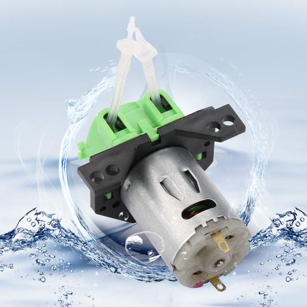 Bomba dosificadora de acuario Bomba dosificadora química Bomba peristáltica Bomba dosificadora DC12V / 24V para análisis bioquímico de laboratorio experimental de acuario(verde, 12V 1 * 3)