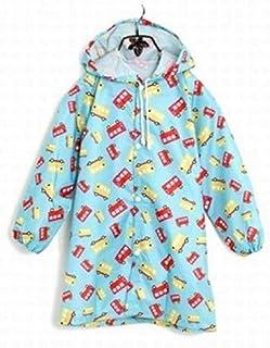子供 こども レインコート ポンチョ キッズ 男の子 女の子 雨 雪 対応 雨具 (クルマ 青S)