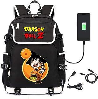Mochila Hombre Mochilas Escolares Mujer Deporte Casual Mochila Niña Niño Escolares con Puerto De Carga USB Mochila Ordenador Portatil Dragon Ball Goku USB Anime Backpack