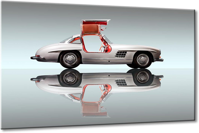 Bild Bild Bild auf Leinwand Mercedes 300 Traum Größe  40cm x 60cm   Mercedes 300 SL Legende Klassiker Auto Bilder Chrom 60er   Aus der Serie Oldtimer Klassiker   Farbe  silber   Rubrik  mercedes + Auto Bilder B0797TQV21 901f42