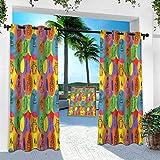 Aishare Store - Cortina de jardín para exteriores, diseño de cactus, plantas de casa con espina, 132 x 241 cm, resistente para interior para porche, balcón, pérgola, toldo, ventanilla (1 panel)