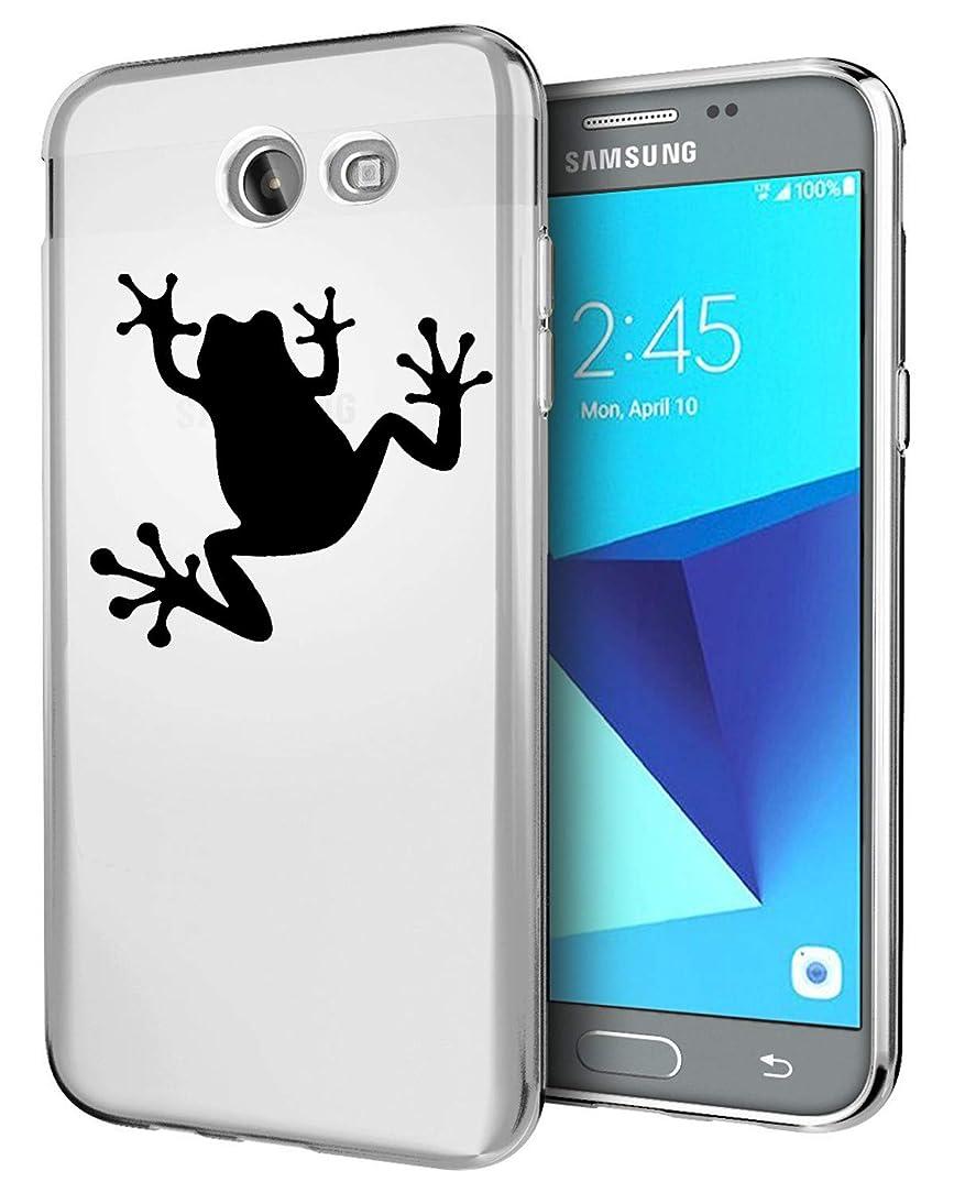 Matop Compatible for Samsung Galaxy J7 V/J7 Perx/J7 Sky Pro/J7 Prime/J7 2017/Galaxy Halo Case,Matop Ultra Slim Soft TPU Shockproof Protective Case Mermaid Pattern Bumper Back Cover (Black Frog)