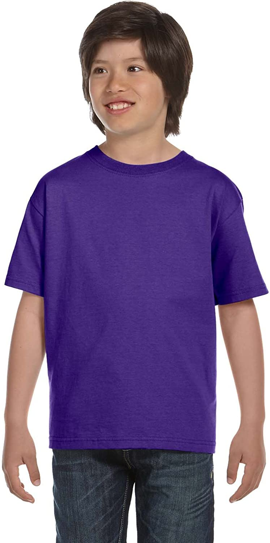 Hanes Youth 61 Oz BEEFY-T - Purple - XL - (Style # 5380 - Original Label)