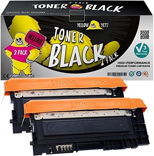Yellow Yeti Kit 2 CLT-K404S NERO 1500 pagine Toner compatibili per Samsung Xpress SL-C430 C430W SL-C480 C480FN C480FW C480W