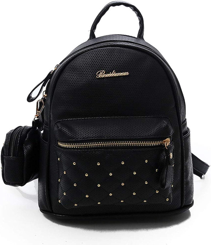 Women's Imitation Leather Bag Mini Backpack Youth School Travel Backpack Fashion Waterproof AntiTheft Lightweight Shoulder Bag