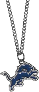 """NFL Chain Necklace with Small Pendant, 20"""", Silver"""