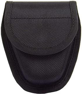 ROCOTACTICAL Molded Double Handcuff Case, Hidden Snap Nylon Cuff Case Pouch