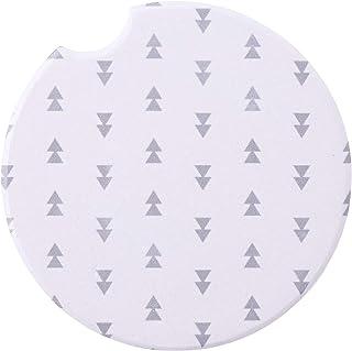 SB Design Studio SIPS Ceramic Car (Console) Coaster, Triangles