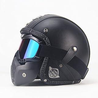 Q/&Z Casque De Moto,Skull Casque Motocross Scooter Adulte Halle Demi Casque Protection De La S/éCurit/é pour Adultes Homme Femme Taille
