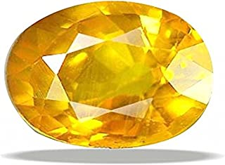 Getgemstones Pukhraj Stone Natural Oval Cut Loose Yellow Sapphire Gemstone 3.4 Carat