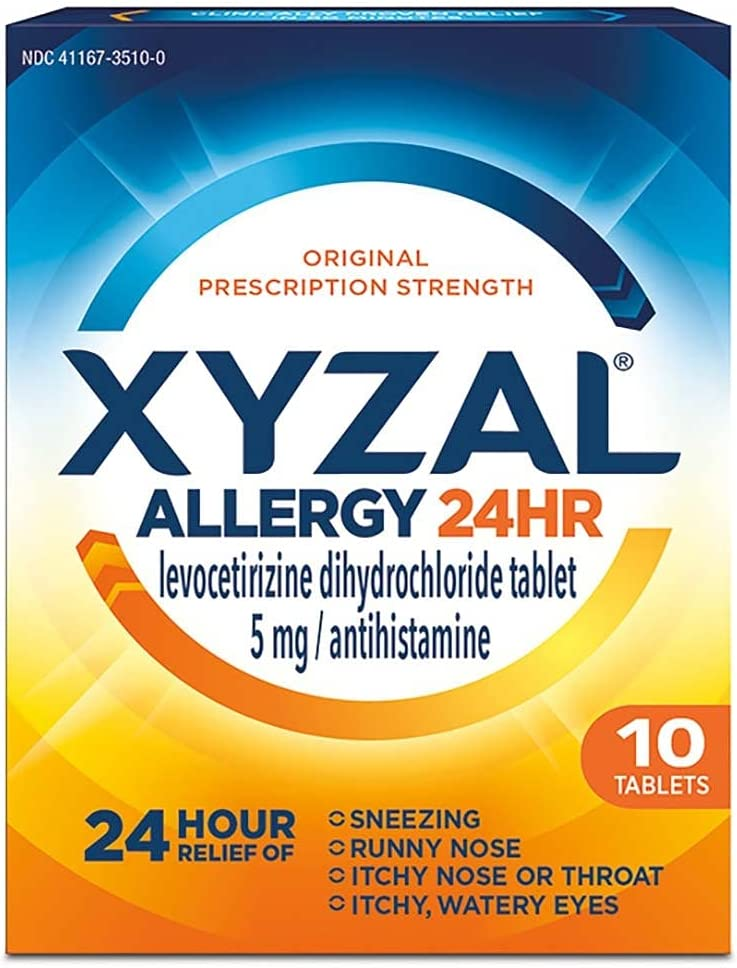 Xyzal High order Animer and price revision Allergy 24 Hour - of Tablets 10 Pack 2