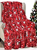 Décor&More Santa's Little Helper Collection Festive and Cuddly Holiday Microplush Throw Blanket (50' x 60') - Ho Ho Ho
