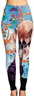 Womens Yoga Pants Attack of The Fox Air Balloon Printed Leggings Novelty Length Pants Tights Stretchy Trousers