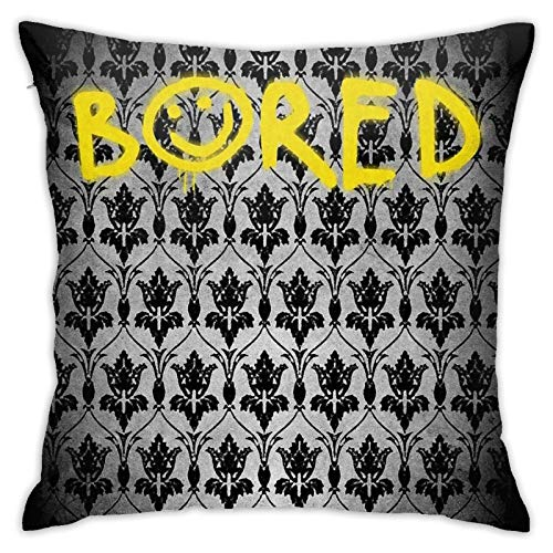 Sherlock - Bored with Wallpaper Bedroom Couch Sofa Throw Pillow Covers Home Decorative Square Pillow Case 18x18 Inch