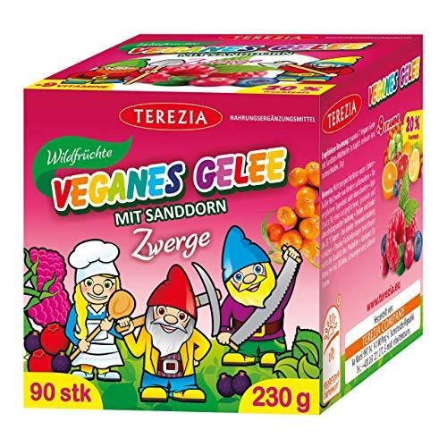 TEREZIA Multivitamine Wildfrüchte Vegane Gelee-Drops/Gummibärchen für Kinder