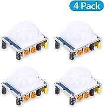 4 Pack HC-SR501 Human Sensor Module Pyroelectric Infrared 3-7M Detection Distance 0.5s-5min Time Delay Adjustment