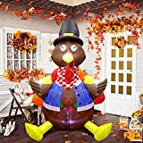 【Great Thanksgiving Decor 】An interesting 6ft inflatable turkey decoration in the courtyard can attract the attention of more children, neighbors or guests, and will make your yard full of fun during Thanksgiving,which is a great choice thanksgiving ...