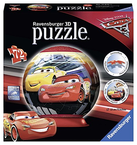 Ravensburger- Puzzle Ball 3D 72 Piezas, Cars 3 (11825)