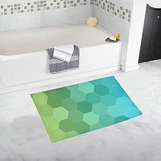 Pattern Mosaic Tile Abstract Geometric Custom Non-slip Bath Mat Rug Bath Doormat Floor Rug For Bathroom 20 X 32 Inch