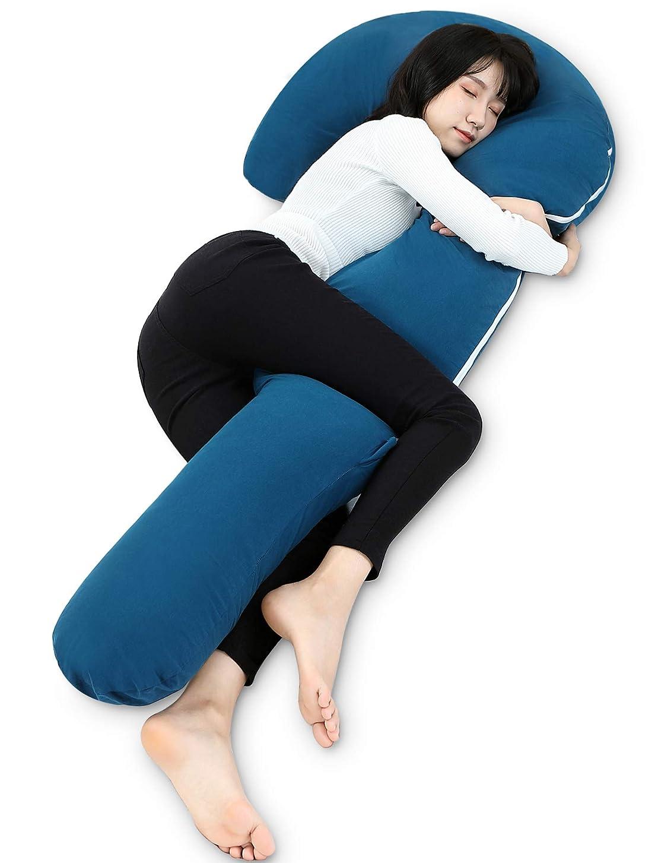 新着受取人レッスン抱き枕 枕 妊婦 抱きまくら 安眠枕 本体 ネックピロー 父の日 プレゼント 腰枕 等身大 中身 洗えるカバー 男女兼用 J型 160cm