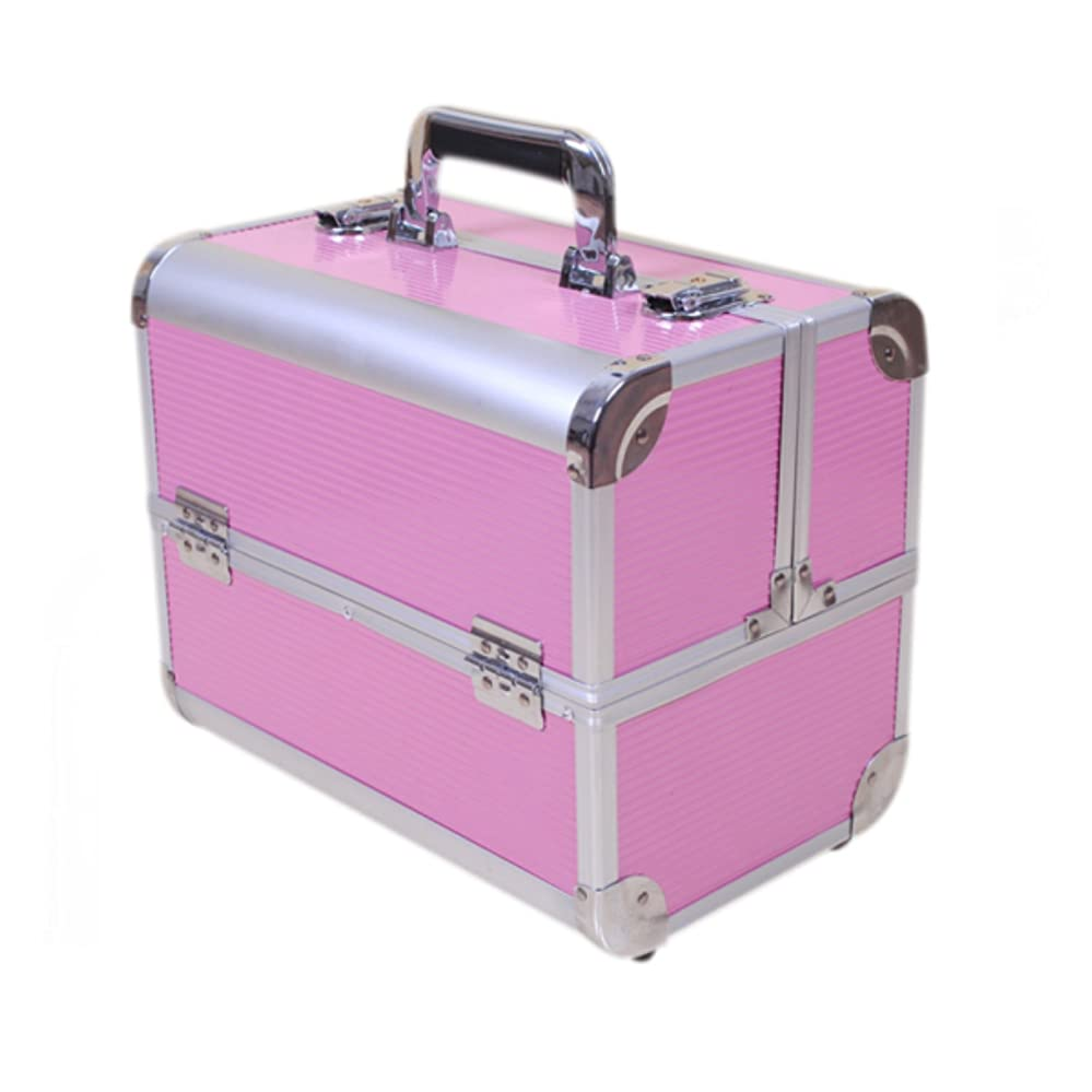 ブレンド副詞権利を与えるHapilife メイクボックス 化粧品 大容量 収納ケース 軽量 大きく負荷 コスメボックス アクセサリー バニティボックス (ピンク)