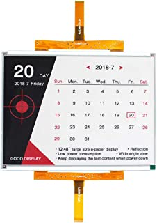 GooDisplay 12.48 Inch Color Large E-Paper Screen Eink Display Electronic Paper Display Panel Black White Red