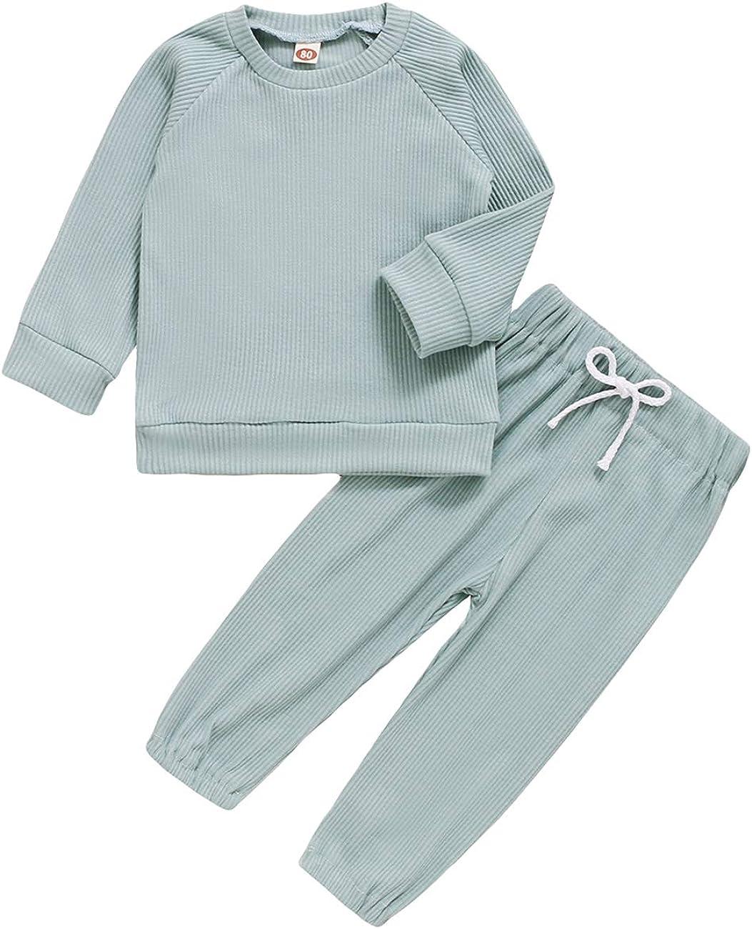 Mubineo Rapid rise Toddler Girl Regular dealer Boy Casual 2 Solid Set Basic Sweatsuit PCS