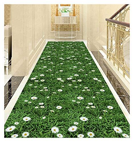 ditan XIAWU 3D Nordischer Wohnzimmerteppich Gang rutschfest Bett Zuhause (Color : Green, Size : 100x150cm)