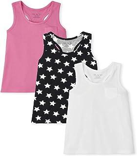 The Children's Place girls Girls Racerback Tank Top 3-Pack Shirt