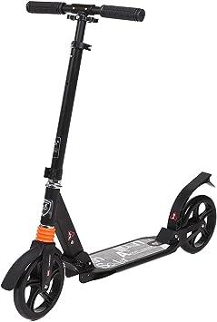 AMDirect Patinete Plegable para Adultos Scooter Manillar Regulable en Altura con Doble Suspensión Ruedas Grande de 20CM Carga de 100kg para 12 Años en ...