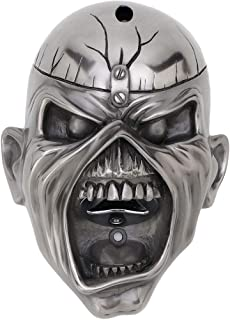 Iron Maiden Wall Mounted Bottle Opener Eddie Trooper Face Official Silver